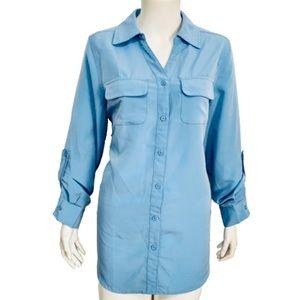 D&CO | Women's Blue Button Down Shirt Size Small